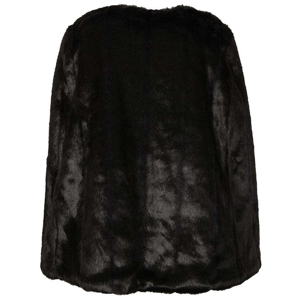 Reversible Faux Fur Cape main image