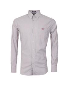 Gant Mens Red Oxford Banker Stripe LS Shirt