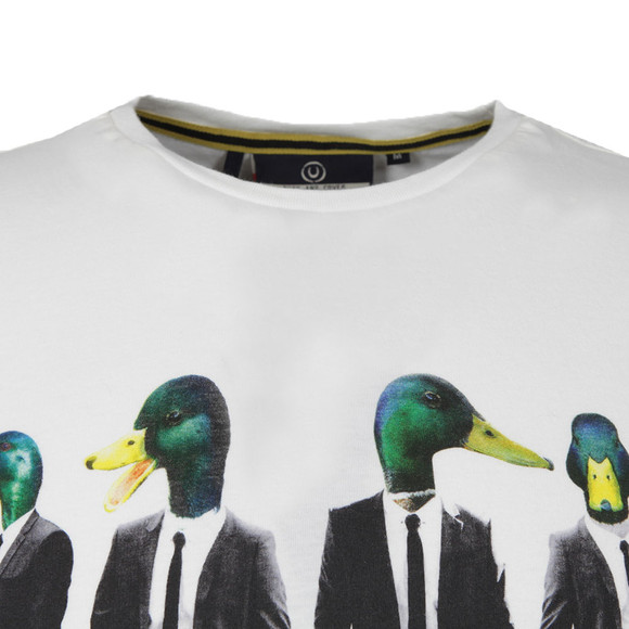 Duck & Cover Mens Off-white S/S Feral Tee main image