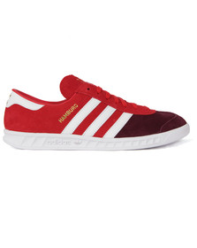 Adidas Originals Mens Red Hamburg Trainer