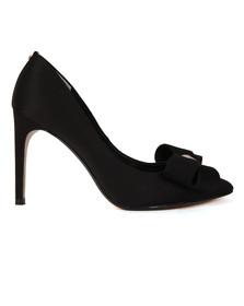 Ted Baker Womens Black Ichlibi Statement Bow Court Shoes