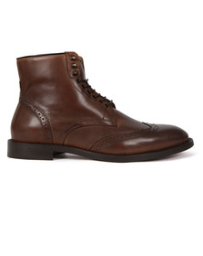 H By Hudson Mens Brown Greenham Calf Boot