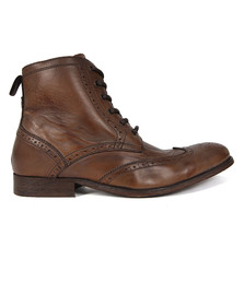 H By Hudson Mens Brown Angus Boot