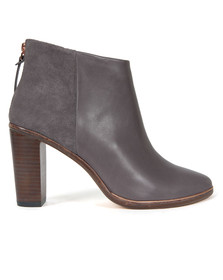 Ted Baker Womens Grey Lorca Heeled Leather Ankle Boots
