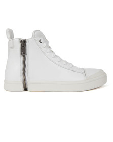 Diesel Mens White S-Nentish Zip Trainer