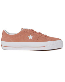 Converse Womens Pink One Star Suede Ox