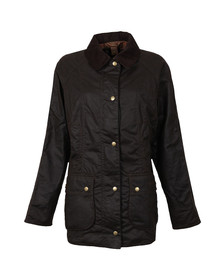 Barbour Lifestyle Womens Brown Beadnell Wax Jacket