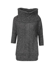 Michael Kors Womens Off-white 3/4 Sleeve Knitted Poncho