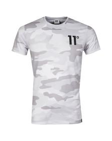 Eleven Degrees Mens White Camo Sub T Shirt