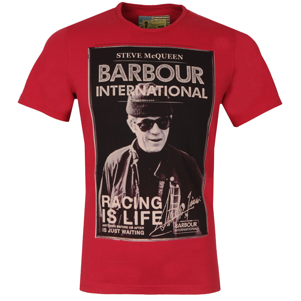 60f653e9 Barbour Int. Steve McQueen Mens Red Apex Tee