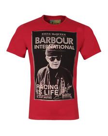 Barbour Steve McQueen Mens Red Apex Tee