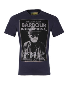 Barbour Steve McQueen Mens Blue Apex Tee