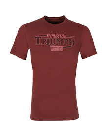 Barbour International Triumph Mens Red Thruxton Tee