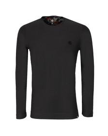 Pretty Green Mens Black Dunham Long Sleeve Crew T Shirt