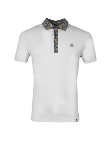 Pretty Green Mens Grey Stretford Paisley Collar Polo Shirt