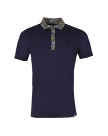 Pretty Green Mens Blue Stretford Paisley Collar Polo Shirt