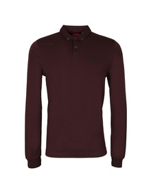 Luke Mens Red L/S Smasher Polo