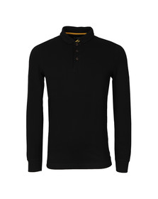 Barbour International Mens Black Root LS Polo