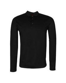 Hugo Mens Black Delato Mercerised Polo Shirt