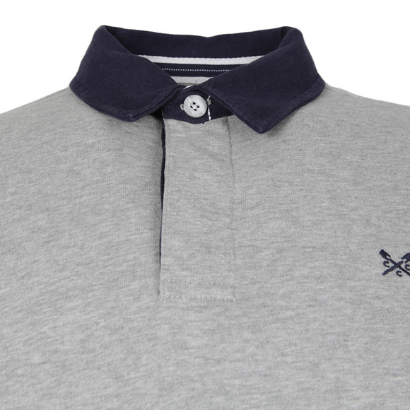 Crew Mens Grey L/S Rugby Polo main image