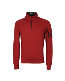 CP Company Mens Red Half Zip Sweat
