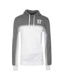 Eleven Degrees Mens Grey Reflect Contrast Hoody