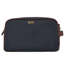 Ted Baker Mens Blue Contrast Trim Nylon Washbag