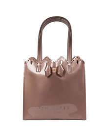 Ted Baker Womens Pink Idacon Scalloped Micro Bow Small Icon Bag