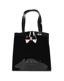 Ted Baker Womens Black Minacon Colourblock Bow Small Icon Bag