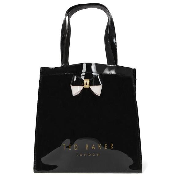 Ted Baker Womens Black Minacon Colourblock Bow Small Icon Bag main image