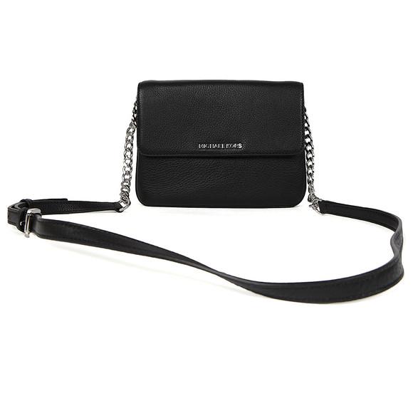 Michael Kors Womens Black Bedford Flap Crossbody Bag main image