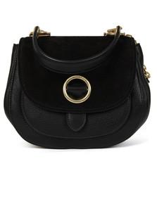 Michael Kors Womens Black Isadore Messenger Leather Shoulder Bag