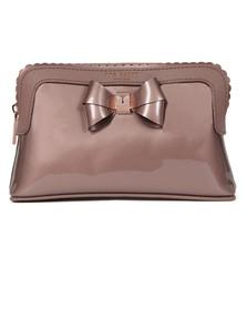 Ted Baker Womens Pink Elden Scallop Edge Make Up Bag