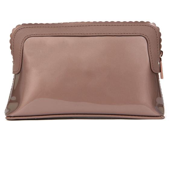 Ted Baker Womens Pink Elden Scallop Edge Make Up Bag main image