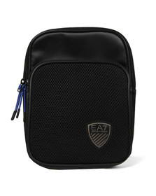 EA7 Emporio Armani Mens Black Nylon Shield Badge Bag