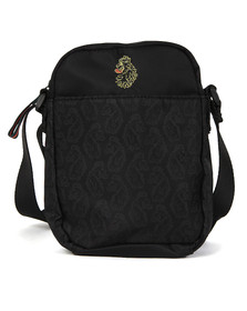 Luke Mens Black Haskell Printed Cross Body Bag