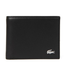 Lacoste Mens Black Small Slim Billfold & ID Slot Wallet