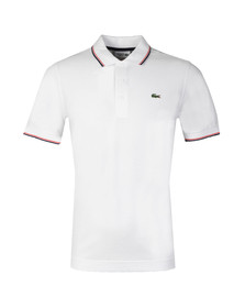 Lacoste Sport Mens White YH7900 Tipped Polo Shirt