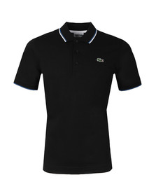 Lacoste Sport Mens Black YH7900 Tipped Polo Shirt