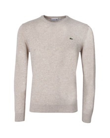 Lacoste Mens Grey New Wool AH2995 Crew Neck Jumper