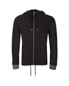 Boss Orange Mens Black Ztager Full Zip Hoody