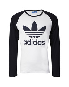 Adidas Originals Mens White L/S Trefoil Tee
