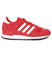 Adidas Originals Mens Red ZX 700 Trainers