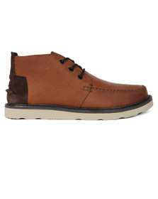 Toms Mens Brown Waterproof Leather Chukka Boot