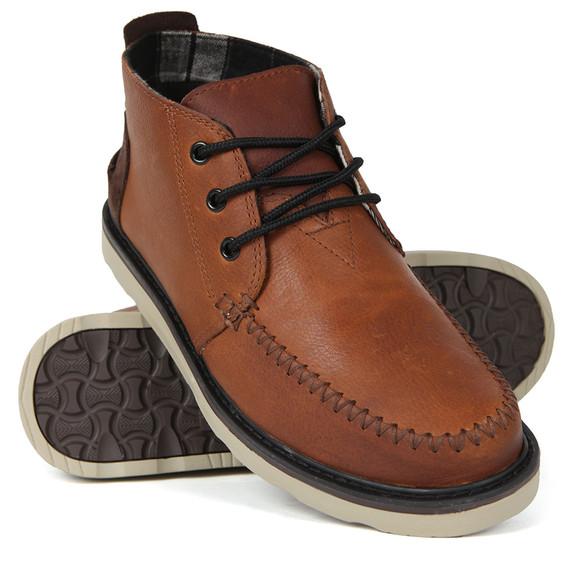 Toms Mens Brown Waterproof Leather Chukka Boot main image