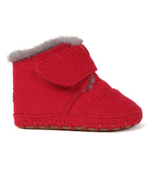 Toms Boys Red Cuna Felt Tweed First Shoe