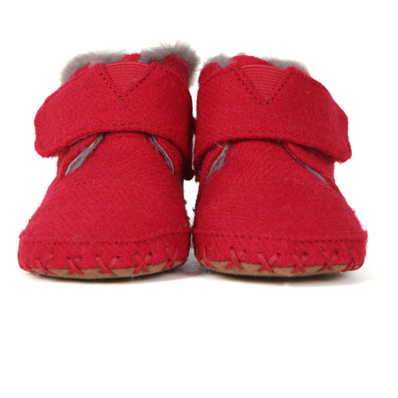 Toms Boys Red Cuna Felt Tweed First Shoe main image
