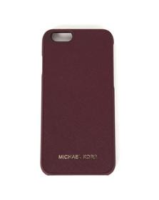 Michael Kors Womens Purple Saffiano iPhone 6 Cover
