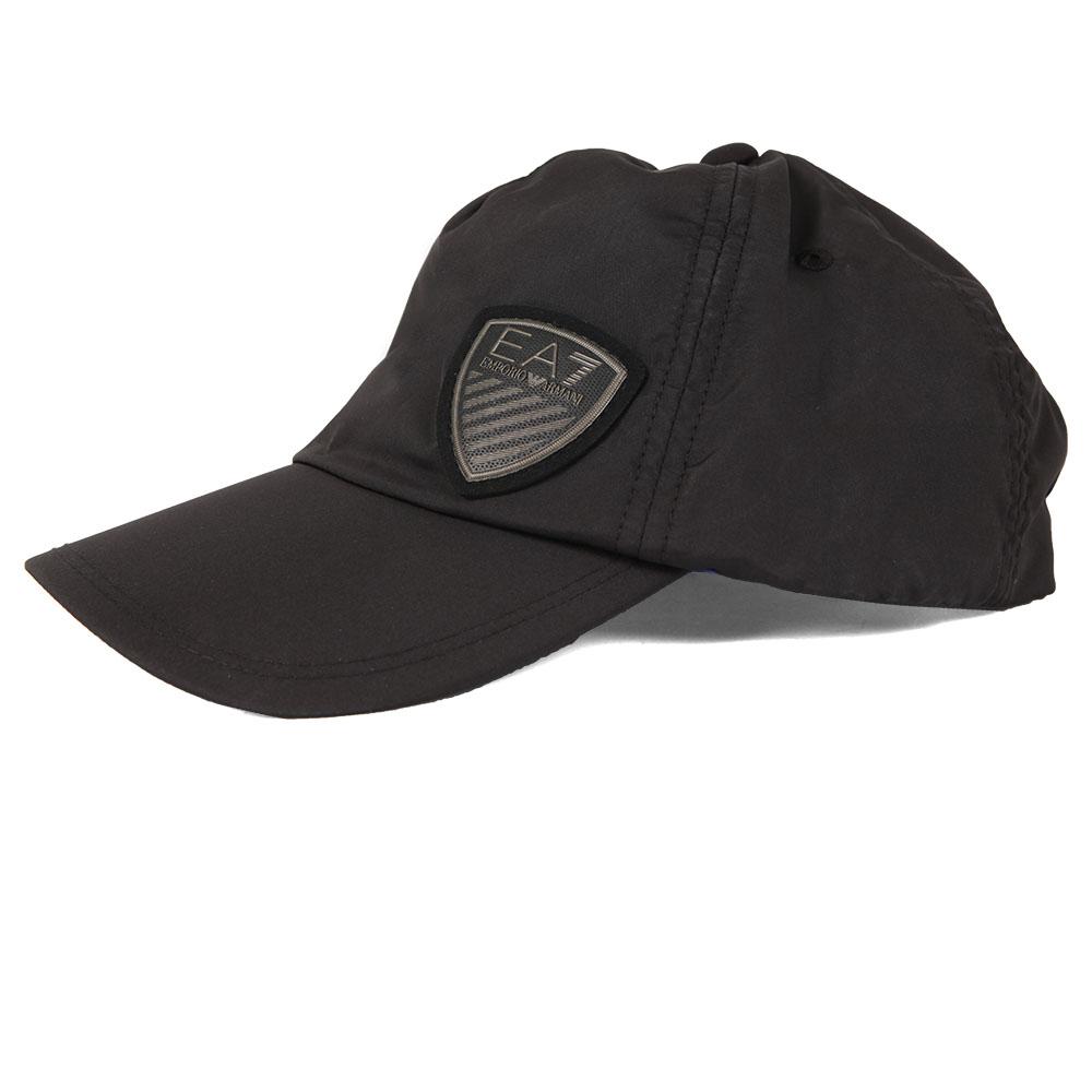 c0078fd9d97f5 EA7 Emporio Armani Mens Black Shield Logo Cap