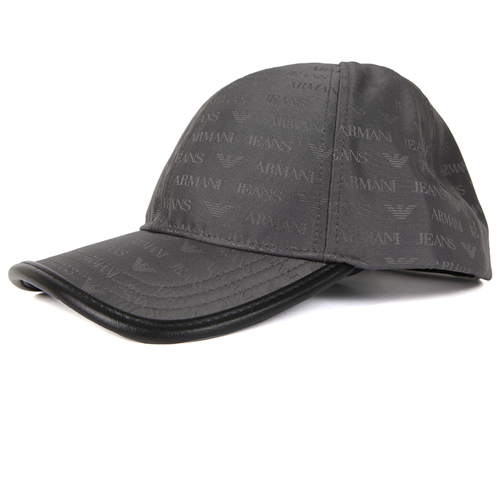 00ddf6c6 Mens Grey Allover Logo Cap